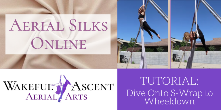 Aerial Silks Tutorial: Dive onto S-Wrap to Wheeldown