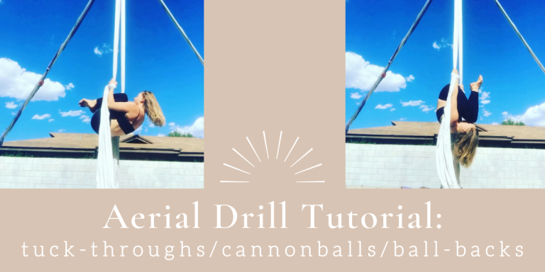 Aerial Drill: Tuck-throughs, Cannonballs, Ball-backs