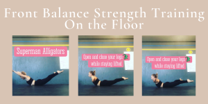 Aerial Front Balance Strength Training on the Floor