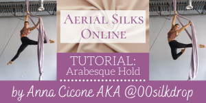 Free Aerial Silks Tutorial: Arabesque Hold by Anna Cicone AKA @00silkdrop
