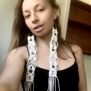 Extra Long Macrame Earrings (Photoshoot)
