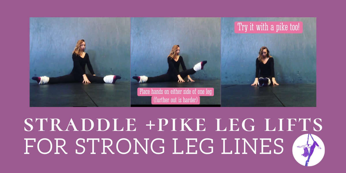 Seated Straddle & Pike Leg Lifts for Aerialists (strong lines, microbend help)