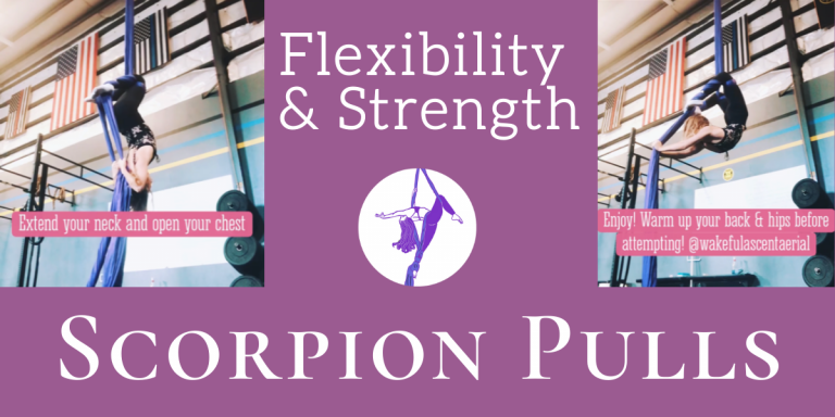 Back Flexibility & Strength Drill: Scorpion Pulls on Aerial Silks
