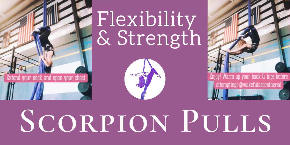 Back Flexibility & Strength Drill: Scorpion Pulls on Aerial Silks
